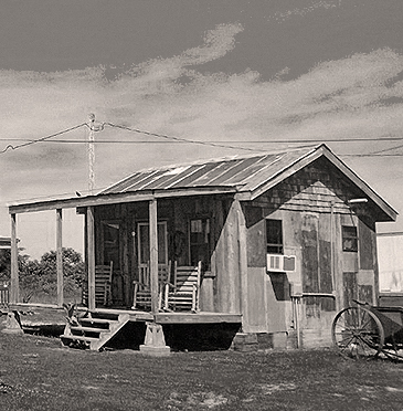 old wooden shack somewhere in rural Coahoma County Mississippi